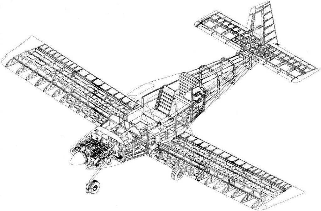 RV-10 Gitterstruktur